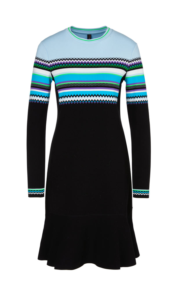 MARC CAIN FINE KNIT DRESS WITH FLOUNCE HEM