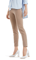 MARC CAIN BI STRETCH SIDE ZIP TROUSER - in Clay