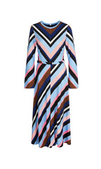 MARC CAIN MIDI DRESS WITH STRIPES