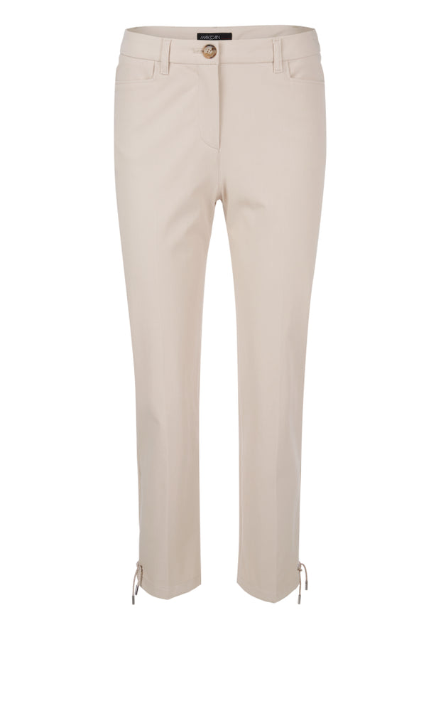 MARC CAIN COTTON BLEND CROPPED TROUSER