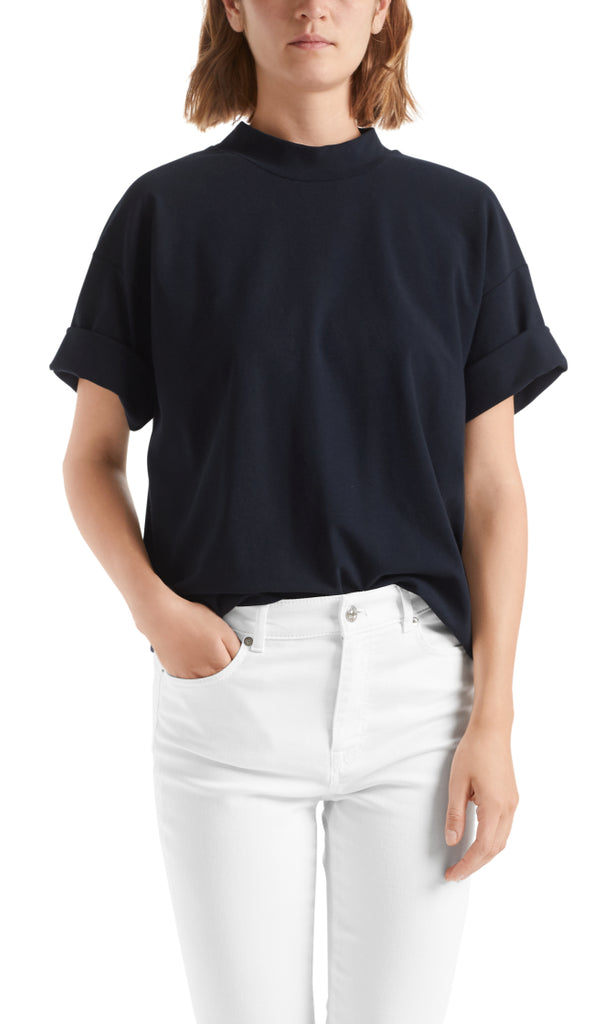 MARC CAIN PONTE JERSEY TOP IN MIDNIGHT