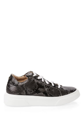 MARC CAIN LEATHER TRAINER WITH A PYTHON PRINT