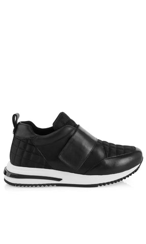 MARC CAIN BLACK LEATHER TRAINER WITH VELCRO