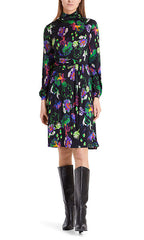MARC CAIN MICROFIBRE JERSEY DRESS IN JEWEL COLOURS