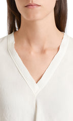 MARC CAIN IVORY V NECK BLOUSE