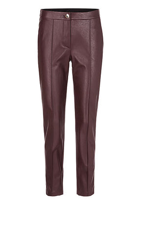 MARC CAIN SUPER SOFT PLEATHER JEAN IN DARK AUBERGINE