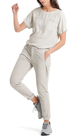 MARC CAIN CASUAL BABY CORD TROUSERS IN PALE SILVER
