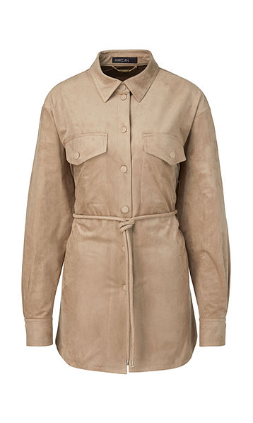 Coming Soon * MARC CAIN FAUX SUEDE SAFARI STYLE SHIRT JACKET