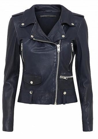 MDK SEATTLE SOFT LEATHER JACKET IN MIDNIGHT