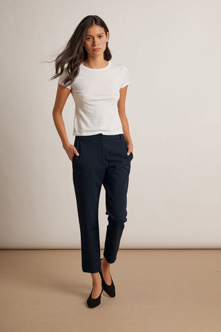 VELVET BY GRAHAM & SPENCER LISA BRENLEY TROUSER IN NAVY