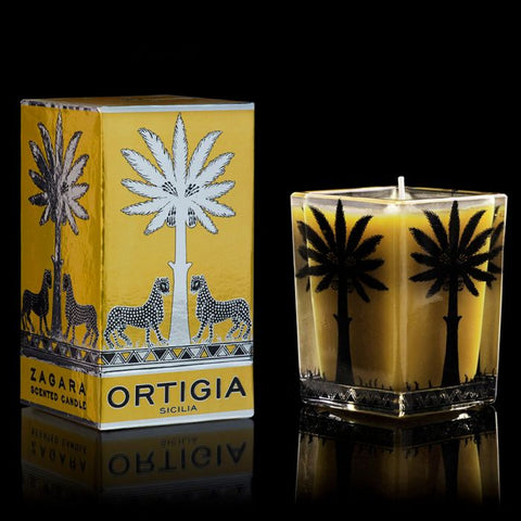ORTIGIA ZAGARA LARGE SQUARE CANDLE