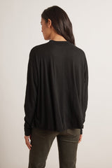 VELVET BY GRAHAM & SPENCER HAZEL LUX SLUB BLACK TOP
