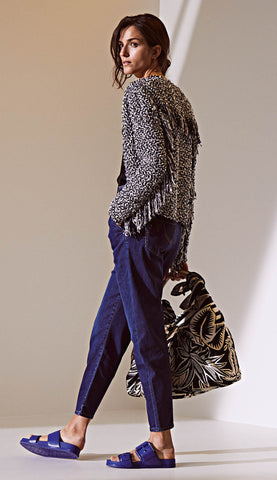 Coming Soon * MARC CAIN BOUCLE KNIT JACKET WITH FRINGING