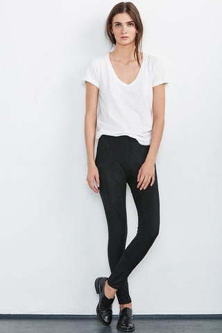 VELVET by Graham & Spencer ROSALIND FAUX SUEDE LEGGING