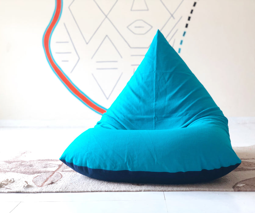 Navy/Beluga Blue Bean Bag