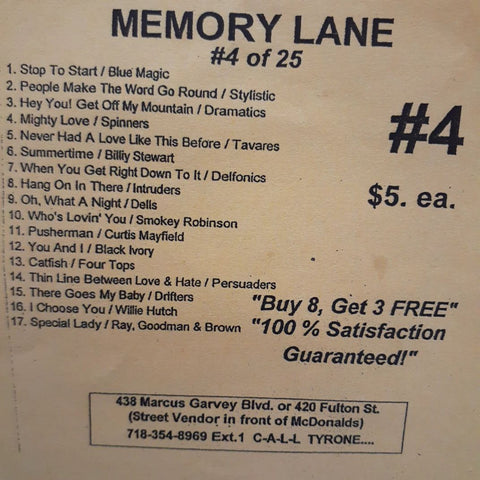 Free Sample download Memory Lane #4