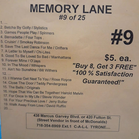 Free Sample download Memory Lane #9