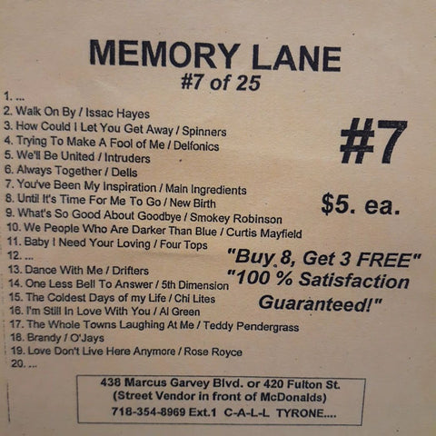 Free Sample download Memory Lane #7
