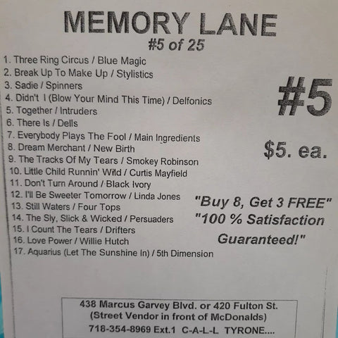 Free Sample download Memory Lane #5