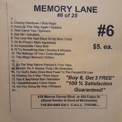Free Sample download Memory Lane #6