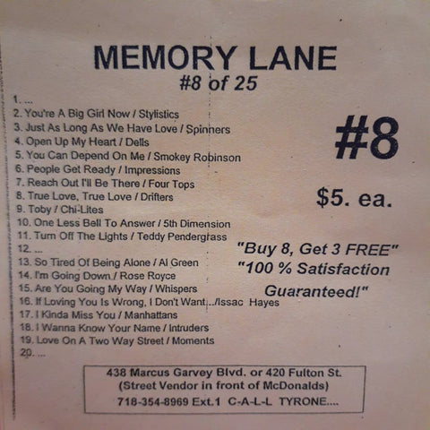 Free Sample download Memory Lane #8