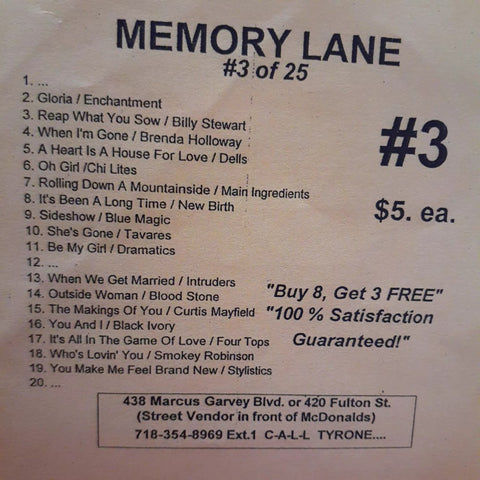 Free Sample download Memory Lane #3