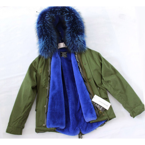 Full Fur lined Parka Jacket with Fur Hood Sapphire Blue – Lisa's ...