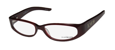 John Richmond 00104 Burgundy Full-rim Womens Eyeglasses Frames