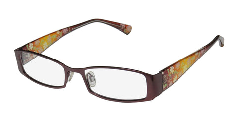 D&a Adiva Dv24 Leona Flower Print Inspired By Nature Eyeglass Frame/Eyewear