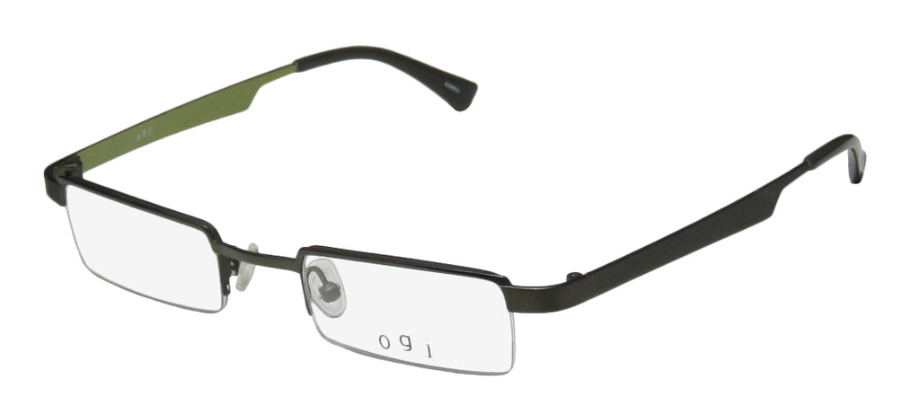 Ogi 2204 Popular Design Half-Rim Trendy Sleek Eyeglass Frame/Glasses/Eyewear