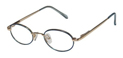 DY 007 J Blue / Gold Full-rim Childrens/Boys/Girls Eyeglasses Frames