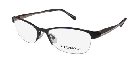 Koali By Morel 2667s Cat Eye Stainless Steel Half-Rim Eyeglass Frame/Eyewear