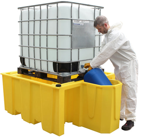 IBC Spill Pallet (For 1 x 1000ltr IBC With Integral Dispensing Area) - BB1D