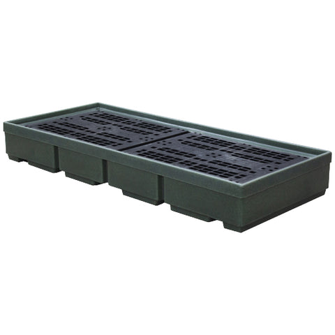 Recycled Spill Pallet (For 3 x 205ltr Drums) - BP3 (Green)