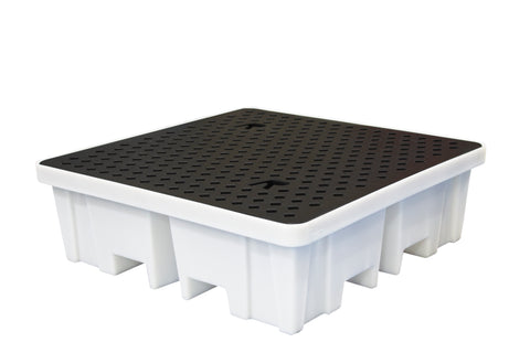 Spill Pallet With 4 way FLT access (For 4 x 205ltr Drums) - BP4FW (White)