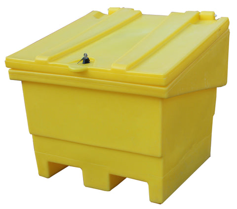 NEW: Rock Salt Bin With Lockable Lid - GRITBIN
