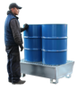 Galvanised Steel Spill Pallet (For Two Drums) - GSP2D