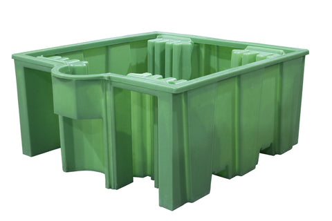 IBC Spill Pallet (For 1 x 1000ltr IBC (no deck)) - BB3 (Green)