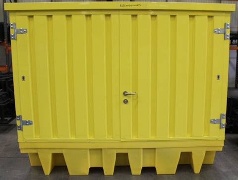Hard Covered Spill Pallet (For 8 x 205ltr Drums or 2 x 1000ltr IBC)(Damaged) - BB2HCSD