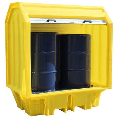 Hard Covered Drum Spill Pallet (Clearance) (2) - BP2HC