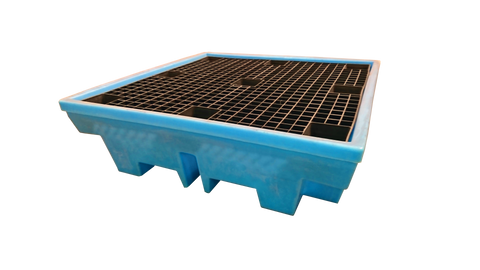 Low Profile Drum Spill Pallet in Light Blue - BP4LLB
