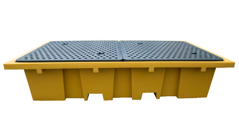 IBC Spill Pallet in Mustard (For 2 x 1000ltr IBCs (Removable Deck)) - BB2M