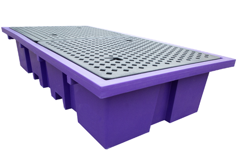 IBC Spill Pallet in Purple (For 2 x 1000ltr IBCs (Removable Deck)) - BB2P