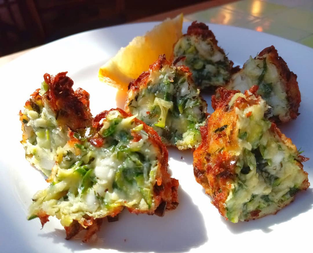 Courgette Fritters with Feta (Vegetarian) / Mücver