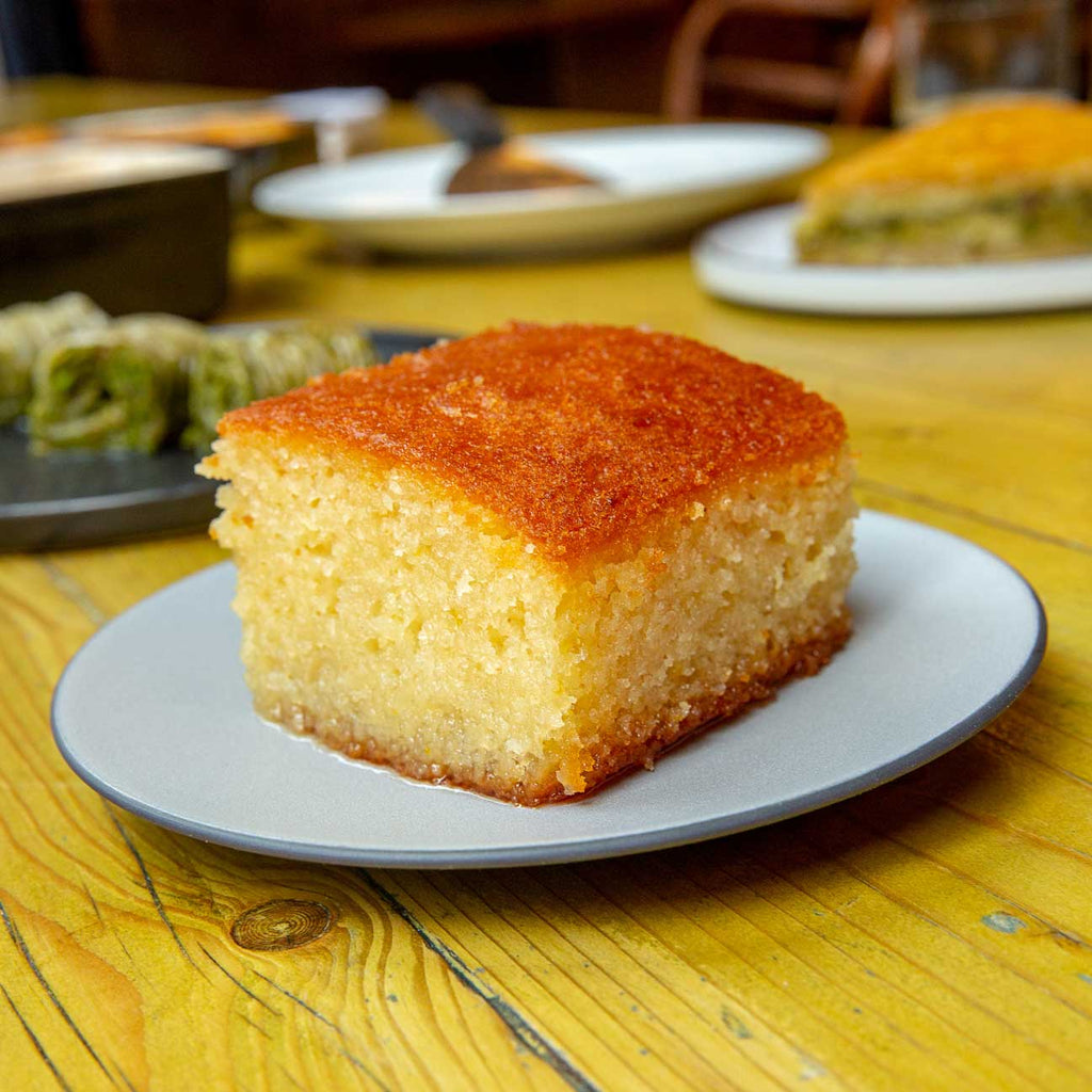 Syrupy Orange Cake / Revani (Vegetarian)