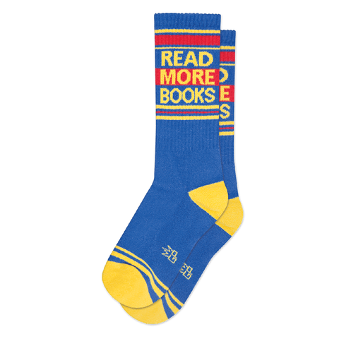 Read More Books Ribbed Gym Socks