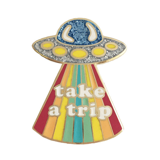 Enamel Pin, Take a Trip UFO
