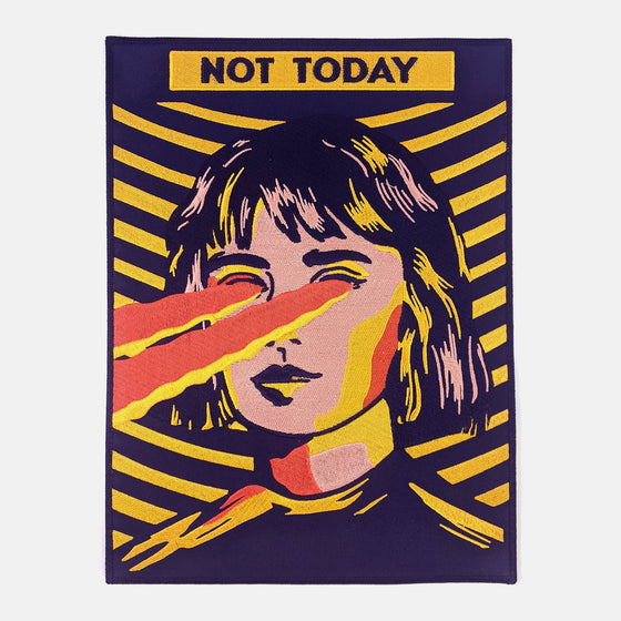 Not Today Large Back Patch