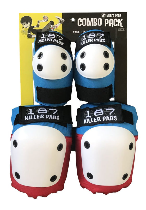 187 KIller Pads Combo Pack Red/White/Blue