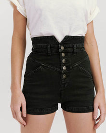 Louise High Waisted Shorts Black